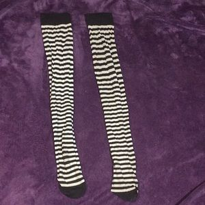 Knee high **Striped Tights** punk/goth/party/club